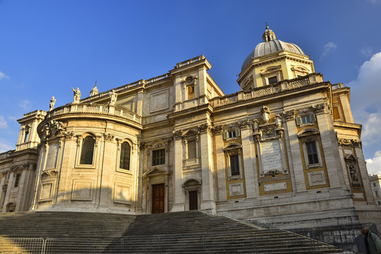 Basilica St Mary Major - one of the most popular landmarks of Rome.
