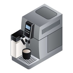 Home coffee machine icon. Isometric of home coffee machine vector icon for web design isolated on white background