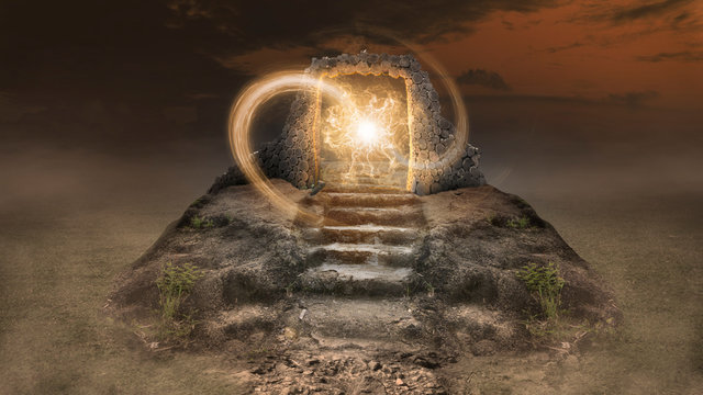 Design concept, find the ancient time portal