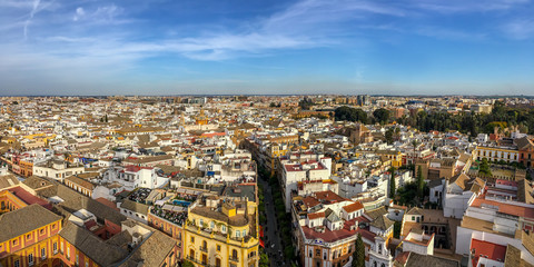 Wall Mural - Aerial view of Seville from the roof of the cathedral, Andalusia, Spain
