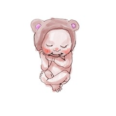 cute  baby cartoon illustration
