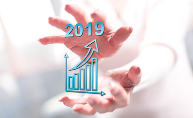 Concept of business growth in 2019