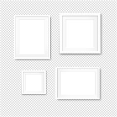 Picture Frame Set Isolated Transparent Background