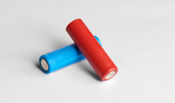 Two color AA size batteries