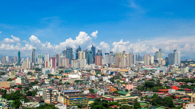 Panorama Picture of the CBD Skyline of Manila, Philippines