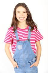 Achtjähriges Mädchen im Porträt