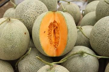 Fresh melon or cantaloupe in the market