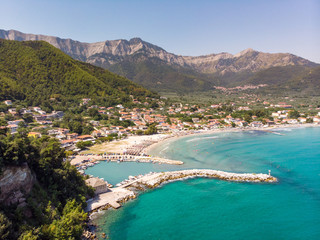 Papiers peints Cote Thasos Golden beach near Chrisi Akti town in Thasos Island, Greece