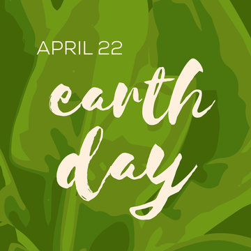 Earth day minimalistic poster, card