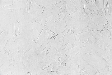 White concrete wall with plastering