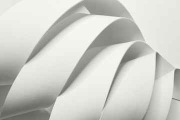 Creative image with curved elements, abstract Wall mural