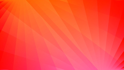 Abstract background with diverging rays of light. Vector illustration with red and orange gradient