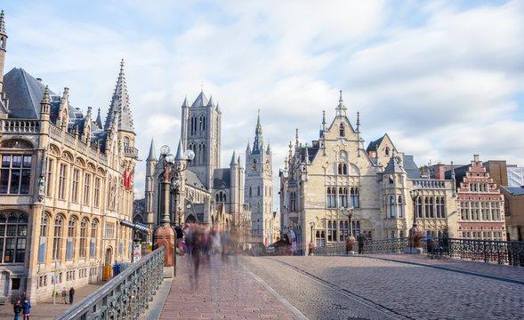 Blick auf die Altstadt von Gent