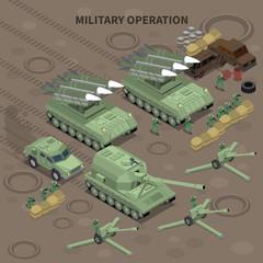 Military Operation Isometric Background