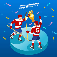 Hockey Cup Isometric Background