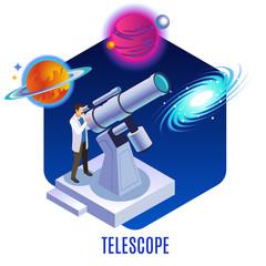 Astrophysics Isometric Background