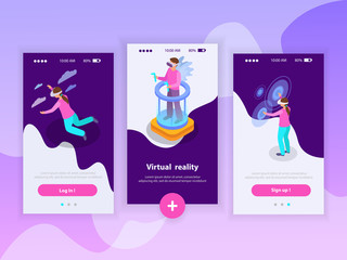 Augmented Reality Banners Set