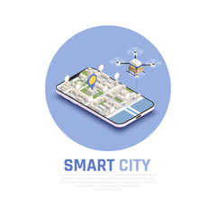 Smart City Isometric Composition