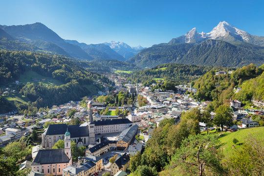 Mountainous landscape of Berchtesgaden in Germany