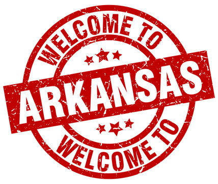 welcome to Arkansas red stamp