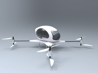 3d illustration of a passenger drone
