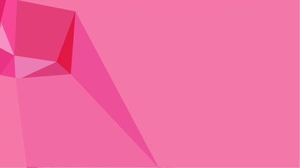 simple abstract colorful background with triangles with free text space, right side