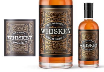 Vintage Whiskey Label Layout