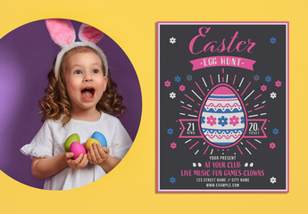 Vintage Easter Egg Hunt Party Invitation Layout