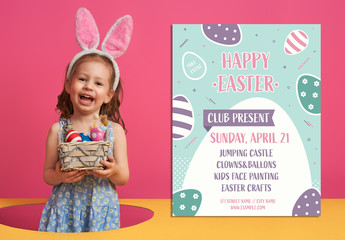 Easter Egg Hunt for Children Invitation Layout