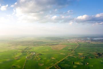 panorama of green fields - landscape in germany