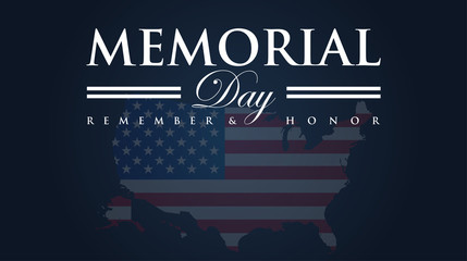 Memorial Day Vector Illustration Background