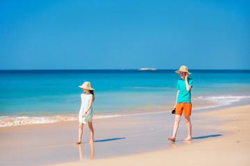 Kids on beach vacation