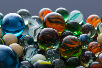 Glass, crystal marbles. Fototapete