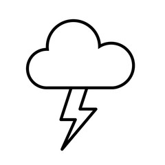 Cloud and Thunderbolt Icon Vector