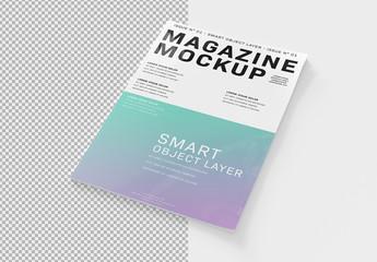 Isolated Magazine Cover Mockup