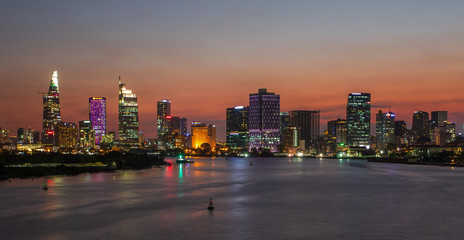 Canvas Prints New York Ho Chi Minh City sunset shot.Ho Chi Minh City formerly named Saigon, is the largest city in Vietnam.