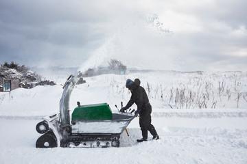 Japanese man in Hokkaido