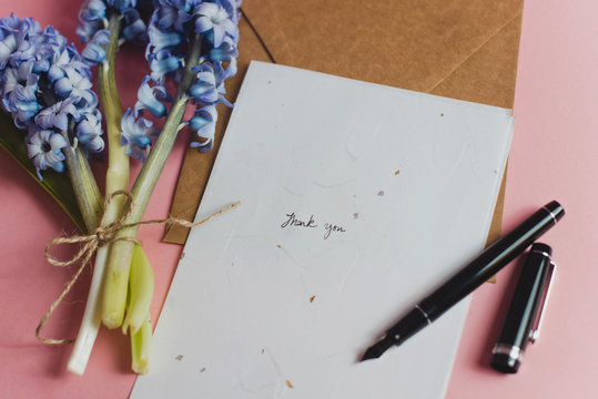 Pretty bouquet and stationery