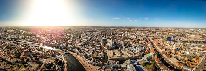 Aerial view of Haarlem in spring, Netherlands Fototapete