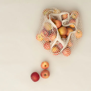 Apples in Market Bag