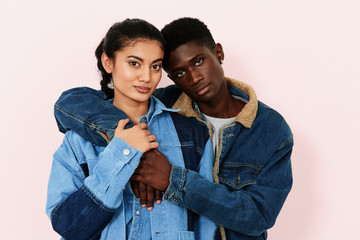 Man and woman in denim