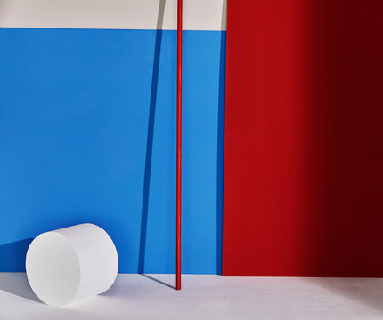 Red, blue and white colored abstract background