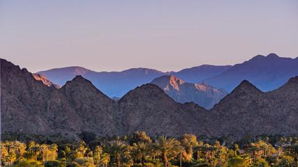 Sunset Landscape in Coachella Valley, Palm Desert, California Wall mural