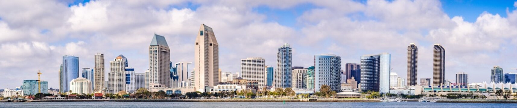 Panoramic view of the downtown San Diego skyline, California