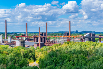 Aerial view of Zollverein industrial complex in Essen, Germany