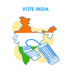 Concept background for Vote India for election democracy campaign banner in vector