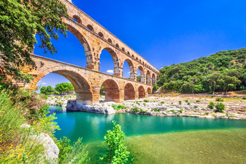 Pont du Gard, Provence in France Wall mural