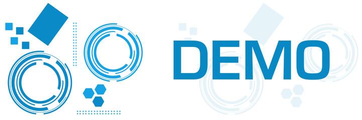 Demo Blue Technology Square Horizontal