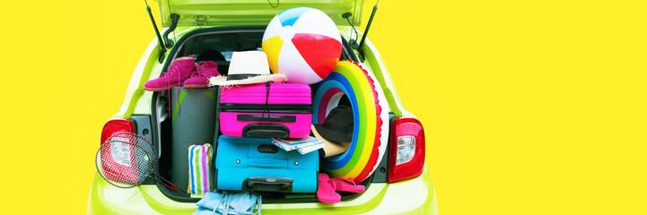 Banner Summer Travel Time Overloaded Gren Car