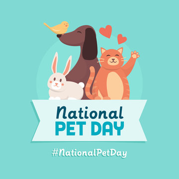 National pet day holiday design